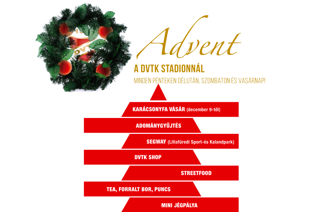 Advent a DVTK Stadionnál